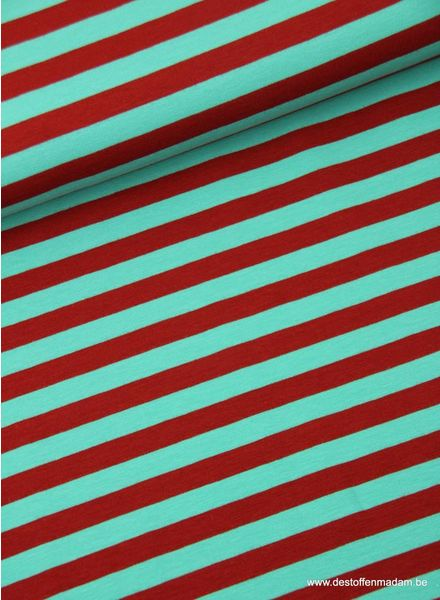 rood/groen strepen 1cm - tricot
