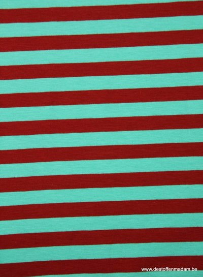 red/green stripes 1 cm - jersey