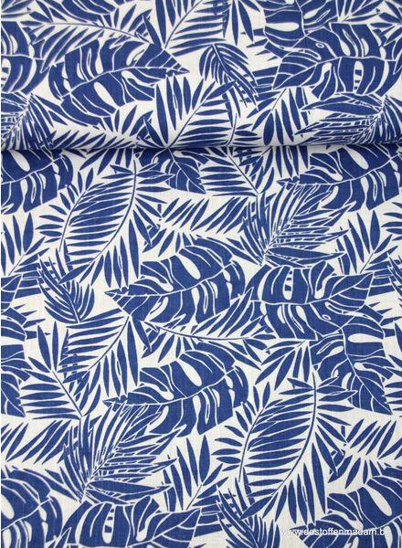 dark blue ferns - hydrophilic fabric