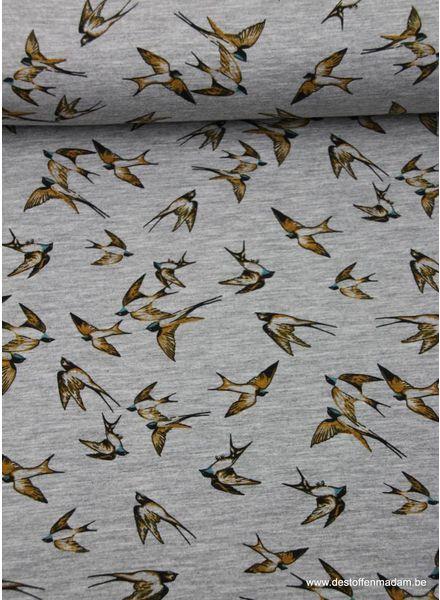 vogeltjes oker - viscose tricot