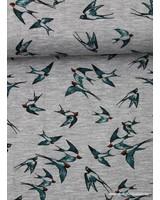 green birds - viscose jersey