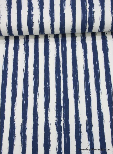 blue stripes - french terry