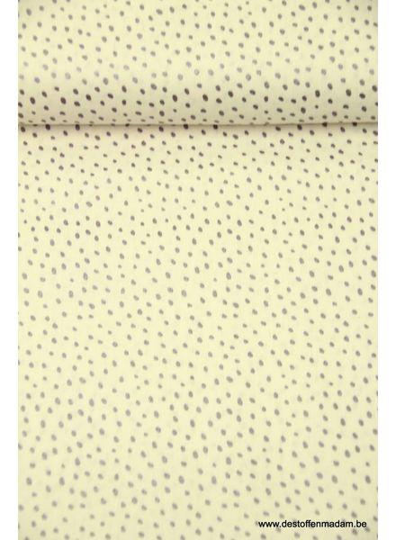 purple dots - cotton