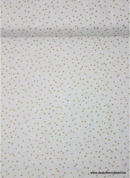 golden dots white - cotton