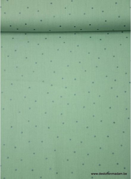 mint dots - cotton