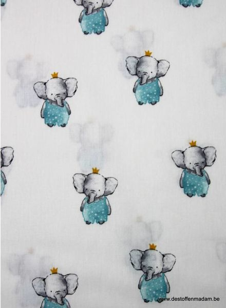 elegant elephant - cotton