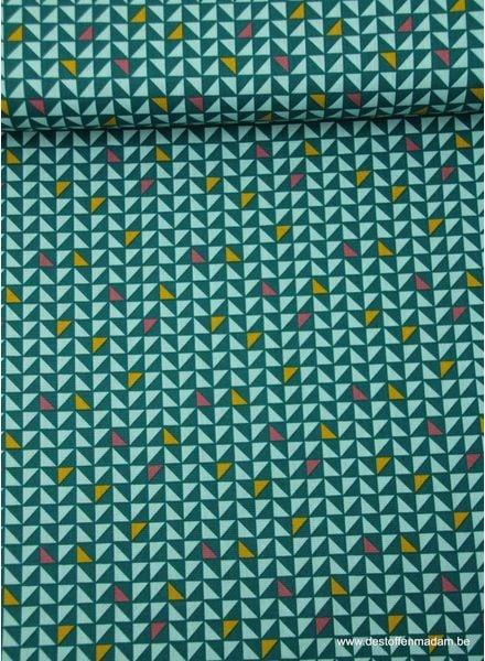 pretty triangles green - cotton
