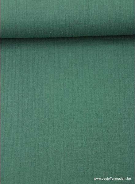 dark green tetra fabric - double gauze
