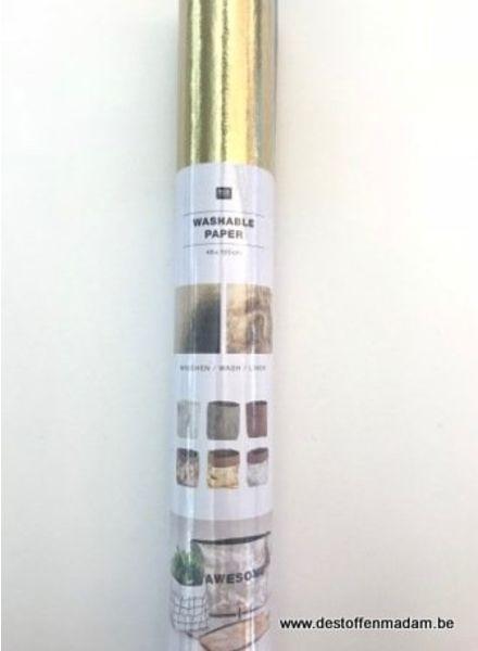 Wasbaar papier (kraft-tex) - goud