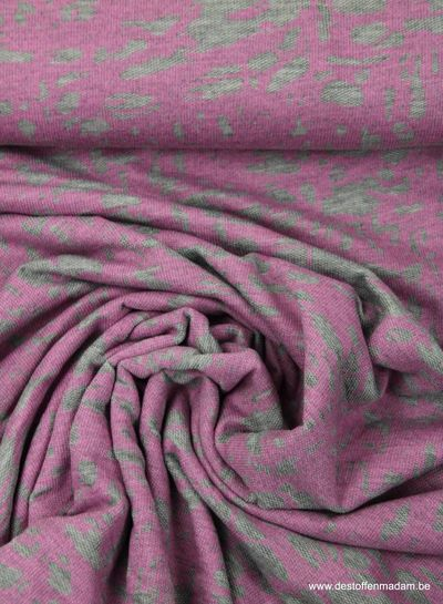 roze camouflage - dunne french terry