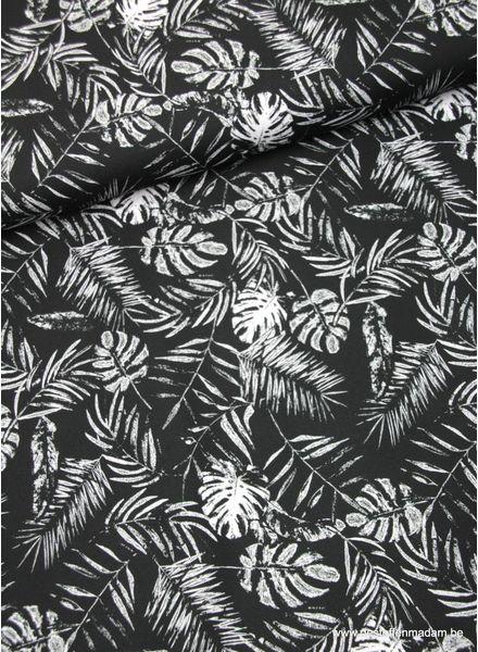 black leaves - quick dry fabric