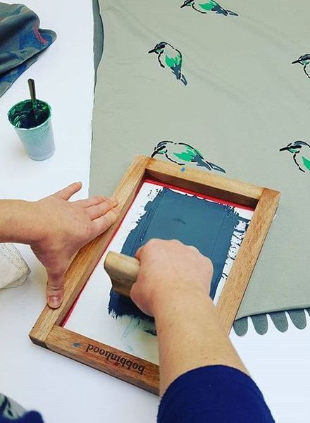 screenprinting with Bobbinhood 22/9 Lier morning