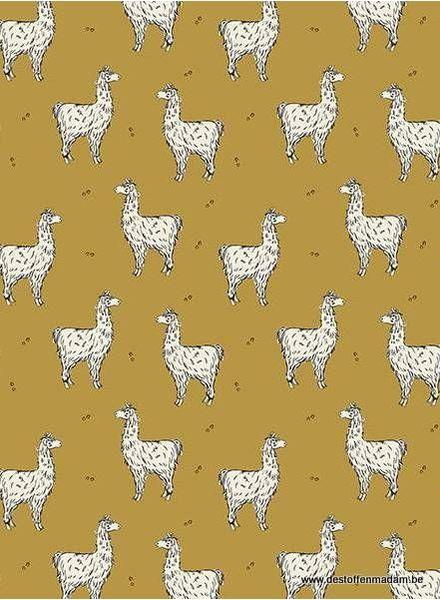 ochre lucky llama - jersey