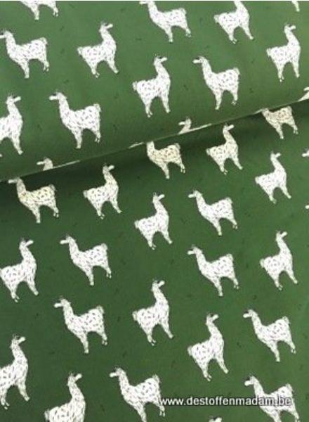 lucky llama green  - sweater