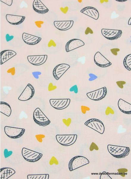 melons pink - cotton