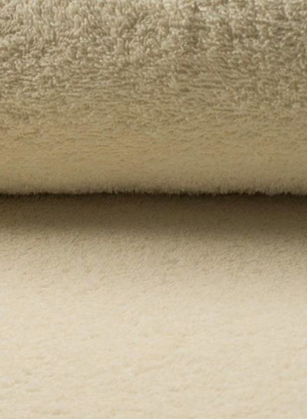 cream terry fabric