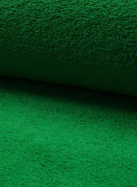 green terry fabric