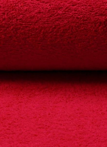 red terry fabric