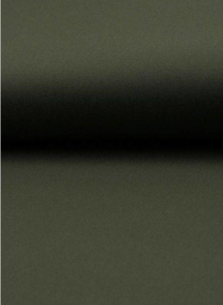 khaki gabardine - stretch katoen