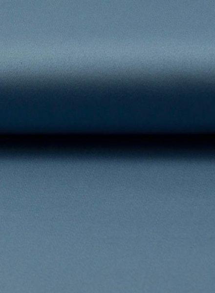 oud blauw satijn stretch katoen
