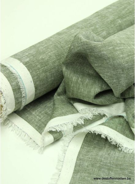 washed mixed linen - khaki