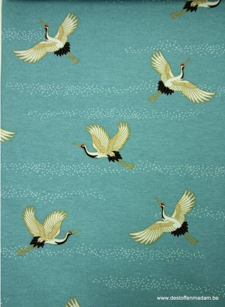 kraanvogels- deco stof