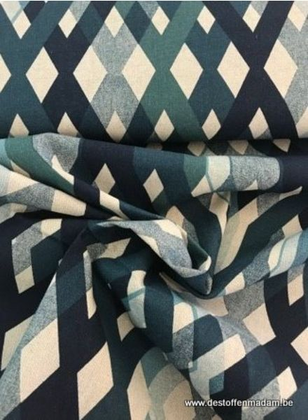 groene lijnen - deco stof