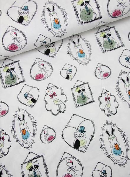 diertjes in kader - tricot