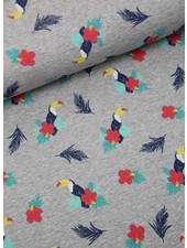 papegaai met bloem - sweater