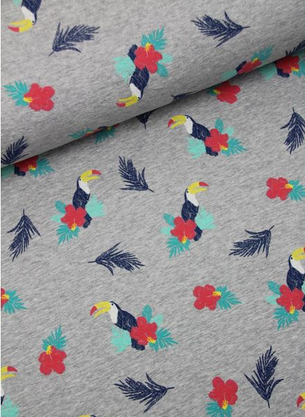parrots with flowers  - sweater