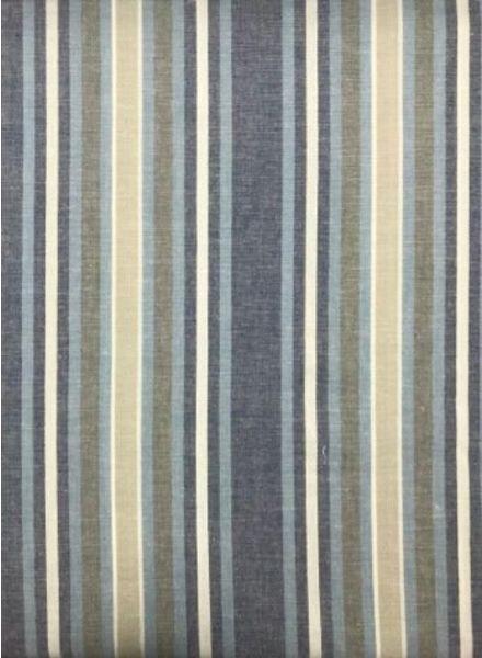 blauw gestreept - Italiaanse linnen mix