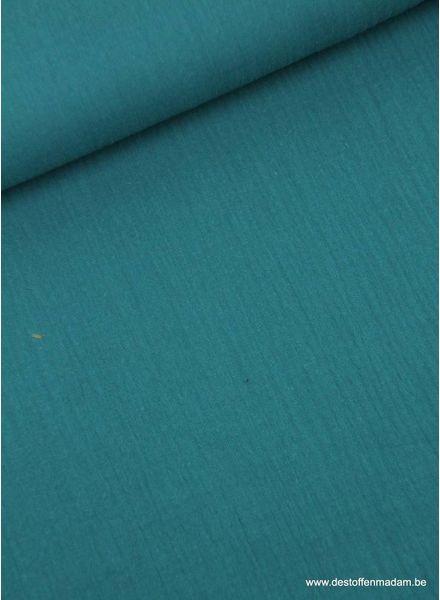 petrol blue tetra - double gauze
