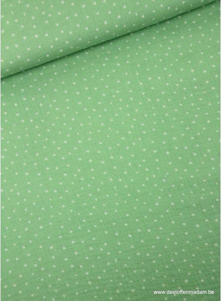 soft green dots  tetra - double gauze