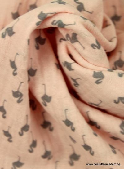 flamingo pink tetra - double gauze