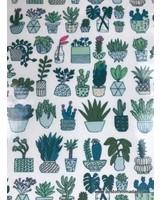 cactuses neon - laminated cotton