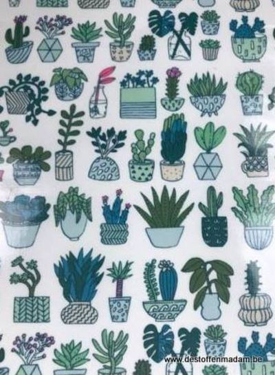 cactuses neon - gelamineerd katoen