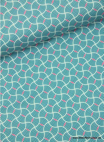 mint retro - polyester fabric