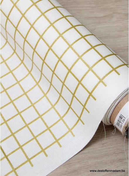 golden grid - laminated cotton
