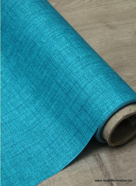 turquoise sketch - gelamineerd katoen