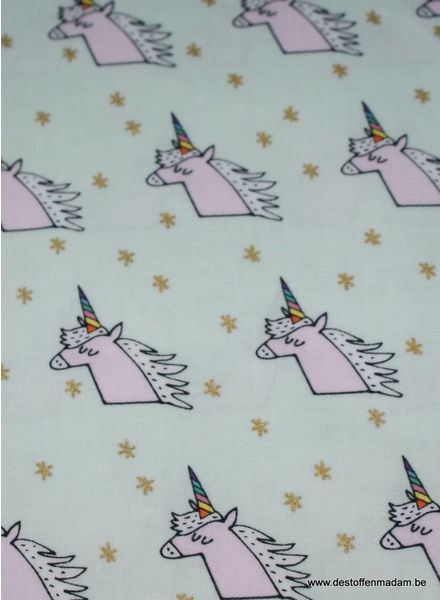 unicorns - laminated cotton