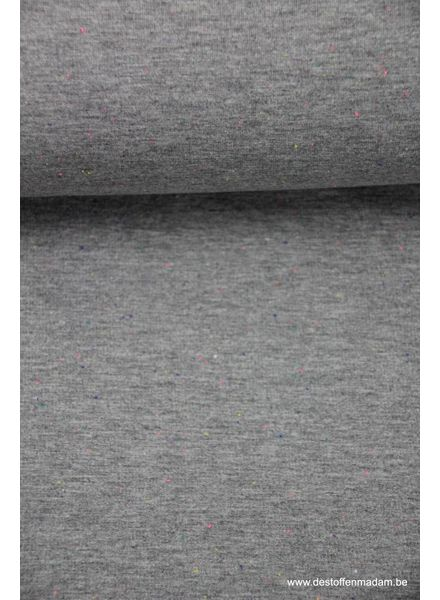 confetti light grey - french terry