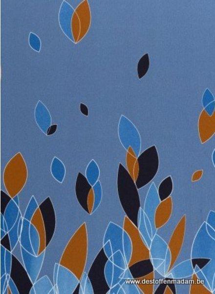 border blauw leaves
