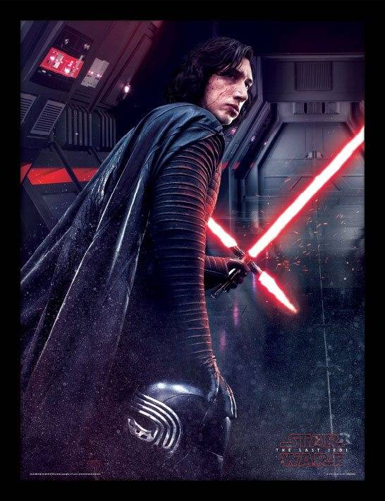 Star Wars: Kylo Ren Poster im Rahmen