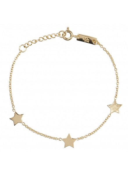 Lennebelle You are my shining star - Daughter Bracelet Gold Plated