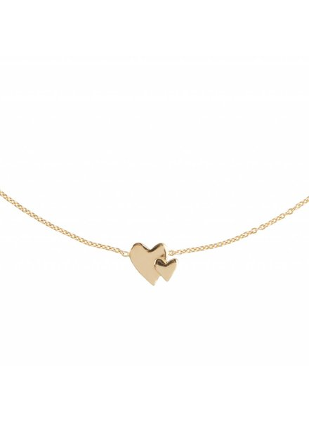 Lennebelle Our hearts beat as one - Uni Necklace Gold Plated