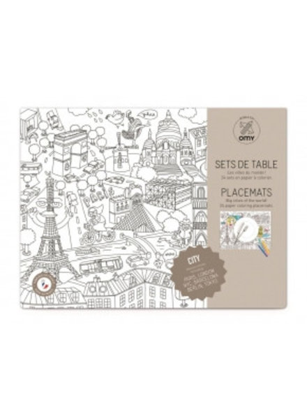 OMY - Coloring Placemats - City2 - 30x40
