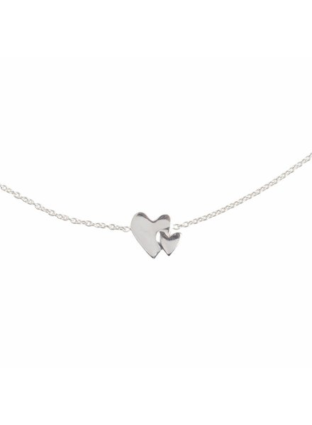 Lennebelle Our hearts beat as one - Uni Necklace Silver