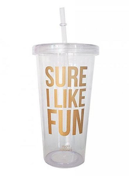 "Studio Stationery - Drinkbeker ""Sure I like fun"