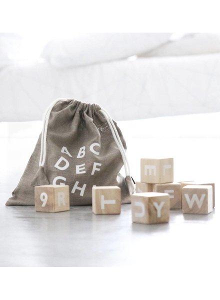 Ooh Noo Alfabetblokken Wit