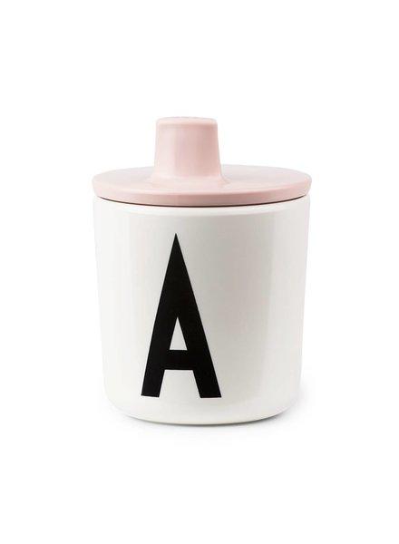 Design Letters Drinkdeksel Roze